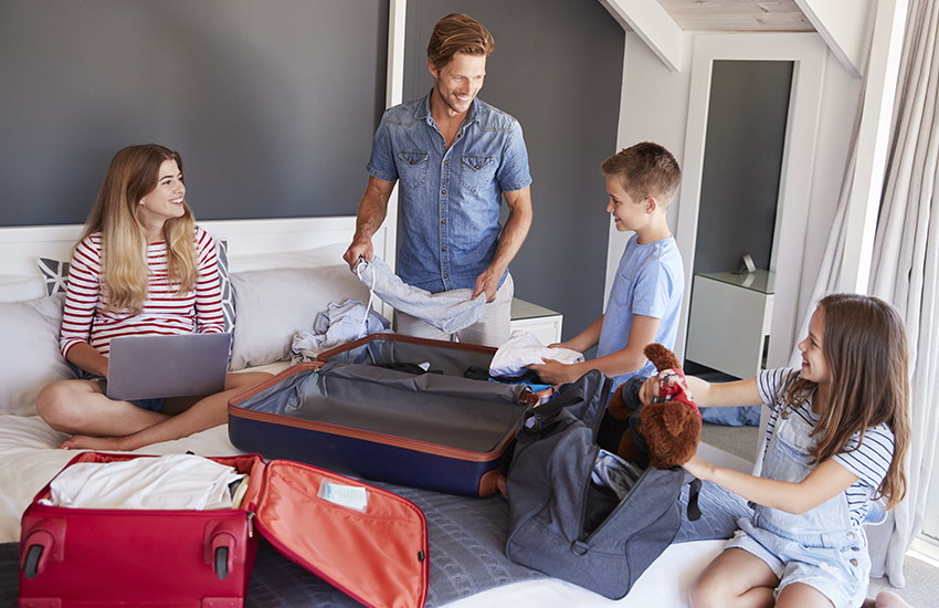 The best secrets for family travel is to plan ahead and ship ahead