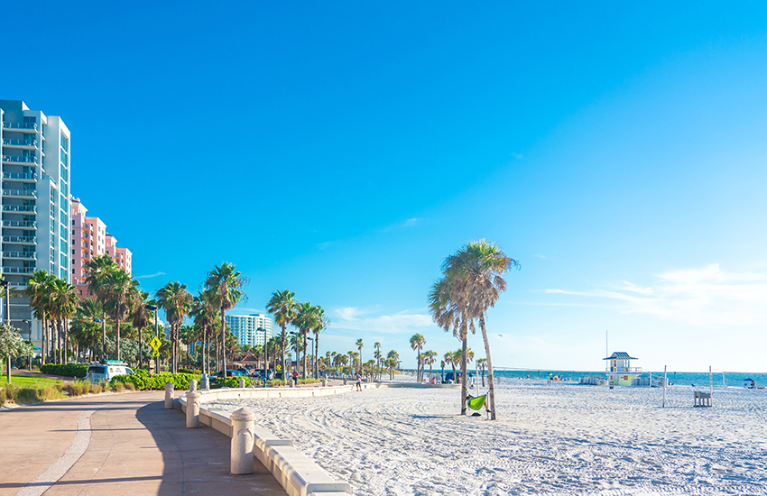 Top family beach destination to visit in winter is Clearwater, Florida