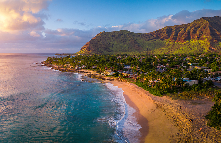 hot travel destination for a vacation is Hawaii