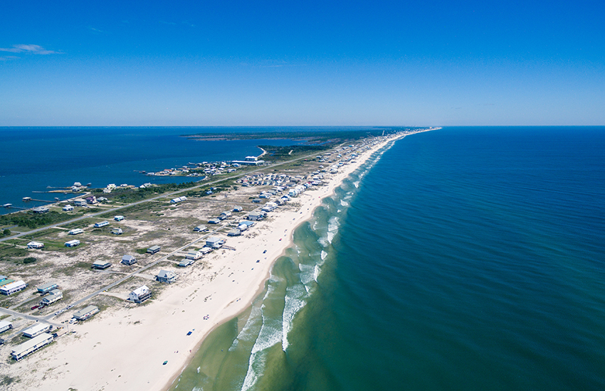 Top family beach destination in winter to visit is Gulf Shores, Alabama