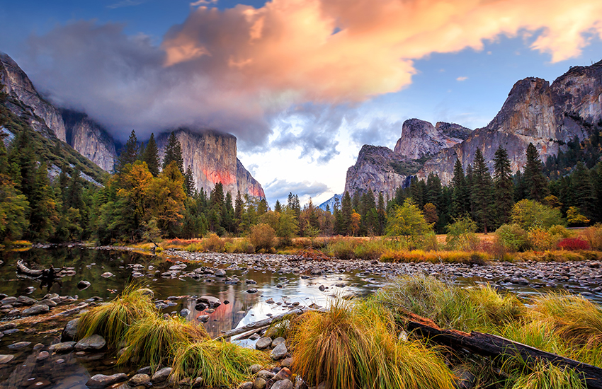 The top National Park to visit in the spring is Yosemite National Park