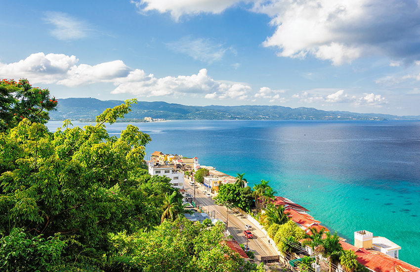 Warm weather vacation destination is Jamaica